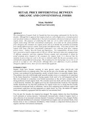 retail price differential between organic and ... - Asbbs.org