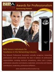 sponsoring partner information - Awards for Professionalism