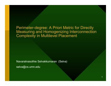 Perimeter-degree: A Priori Metric for Directly Measuring and ... - SLIP