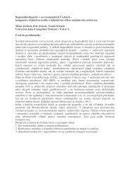 příspěvek v pdf - Fakulta životního prostředí - UJEP