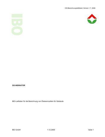 OI3-INDIKATOR IBO-Leitfaden für die Berechnung von ...