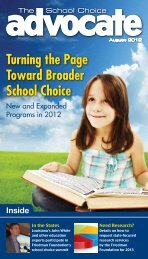 August School Choice Advocate - The Friedman Foundation For ...