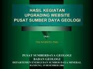 hasil kegiatan upgrading website pusat sumber daya geologi