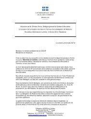 Allocution de M. Christos Sirros, Délégué général du Québec à ...