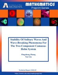 Stability Of Solitary Waves And Wave-Breaking Phenomena For The ...