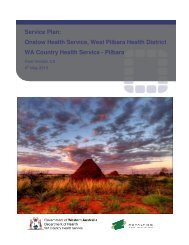 Onslow Service Plan - WA Country Health Service