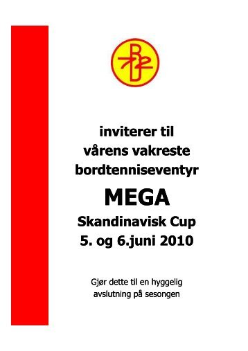 Invitasjon Mega Cup 2010