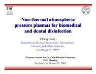 Non-thermal atmospheric thermal atmospheric pressure plasmas for ...
