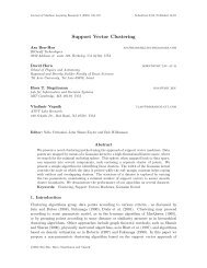 Support Vector Clustering - Journal of Machine Learning Research