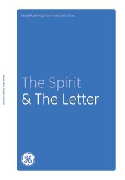 The Spirit & The Letter Download in German: GE Code of Conduct