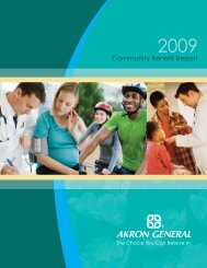 2009 Community Benefit Report - Akron General Medical Center
