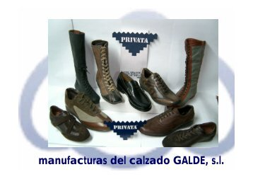 manufacturas del calzado GALDE, s.l.