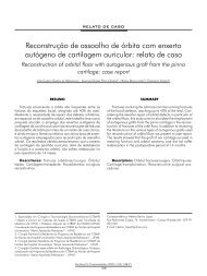Reconstrução de assoalho de órbita com enxerto ... - ABCCMF