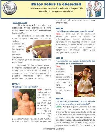 Mitos sobre la obesidad