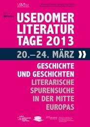 USEDOMER LITERATUR TAGE 2013 - europareportage