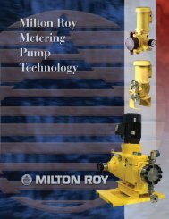 Metering Pump Technology - Fine Line Instrument