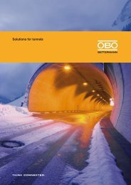 Solutions for tunnels - OBO Bettermann