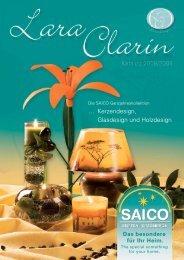 … Kerzendesign, Glasdesign und Holzdesign Katalog 20 08/2009