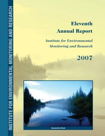 2007 Annual Report - Institute for Environmental Monitoring and ...