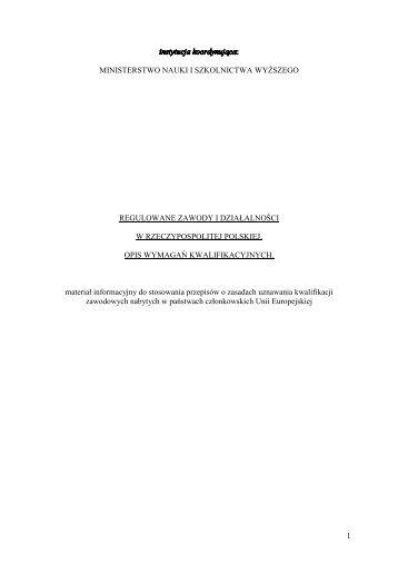 Regulowane zawody w RP - FUT – Forum Uczelni Technicznych