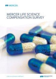 MERCER LIFE SCIENCE COMPENSATION SURVEY - iMercer.com
