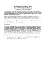 Suncoast Woodcrafters Guild General Membership Meeting June 19 ...