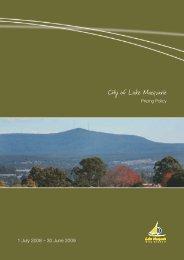 1 July 2008 – 30 June 2009 1 - Lake Macquarie City Council