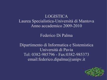 Introduzione alla Logistica