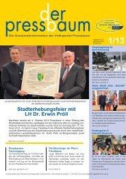Stadterhebungsfeier mit LH Dr. Erwin Pröll - Volkspartei