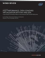 high performance, open standard virtualization with nfv ... - Wind River