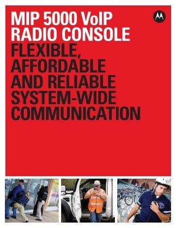 MIP 5000 VoIP Radio Console - Emergency Radio Service Inc.