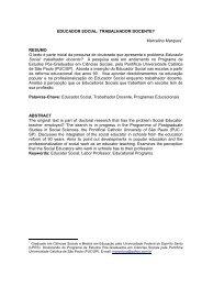 educador social: trabalhador docente - SciELO Proceedings