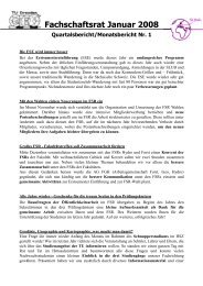 Fachschaftsrat Januar 2008 - phpweb.tu-dresden.de