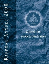 Annual Report 2000 French - Board of Funeral Services