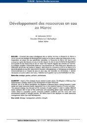 Développement des ressources en eau au Maroc - Observatoire ...