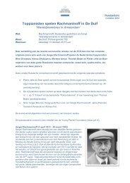 persbericht Rachmaninoff in De Duif - Stadsherstel Amsterdam