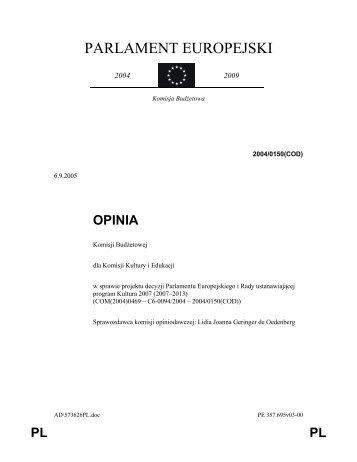 tekst opinii - Lidia Geringer de Oedenberg