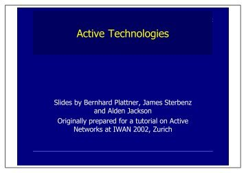 PDF of color slides - Communication Systems Group