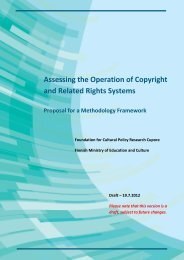 Assessing the Operation of Copyright and Related Rights ... - Cupore