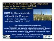 OGM, la filière pesticide et l'herbicide Roundup. - Agricultural ...