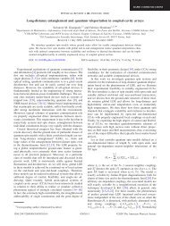 Long-distance entanglement and quantum teleportation in coupled ...