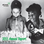 2011 Annual Report - the Girl Scouts, Hornets' Nest Council.