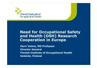 Need for Occupational Safety and Health (OSH ... - euroshnet