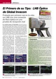 El Primero de su Tipo: LNB Óptico de Global Invacom