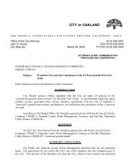 Opinion on franchise fees for set-aside - Oakland City Attorney