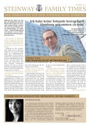 STEINWAY FAMILY TIMES - Steinway-Haus Hamburg