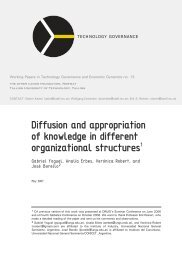Diffusion and appropriation of knowledge in different - Technology ...