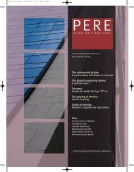 Private Equity Real Estate is delighted to - PERE