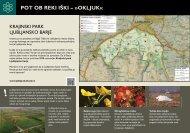 11 informativnih tabel - Ljubljansko barje