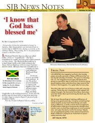 SJB NEWS NOTES - Holy Name Province